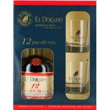 EL- DORADO Rum 12 Years Old 70 Cl. + 2 Glazen