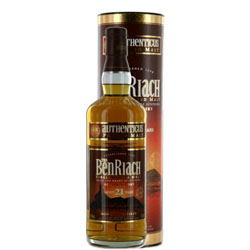 BENRIACH Authenticus 21 Years Single Malt Peated style 70 Cl. 46