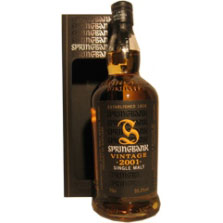 Springbank - Vintage 2001 Batch nr. 1-8 yrs. 70 Cl. 55,3% Vol